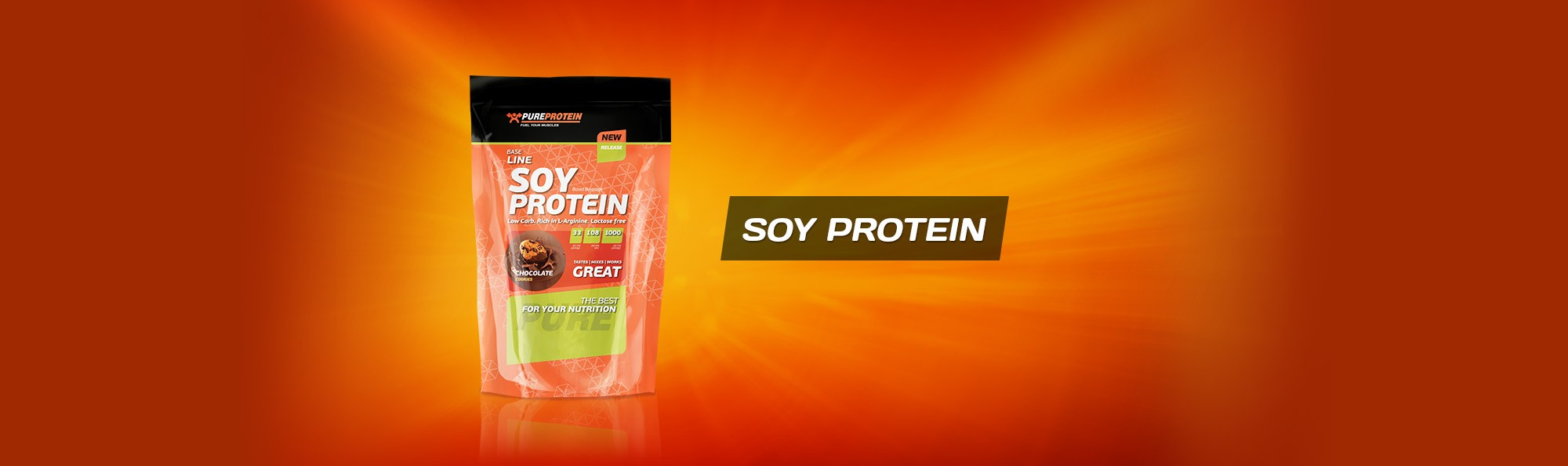 Соевый протеин Soy Protein Base Line от Pure Protein