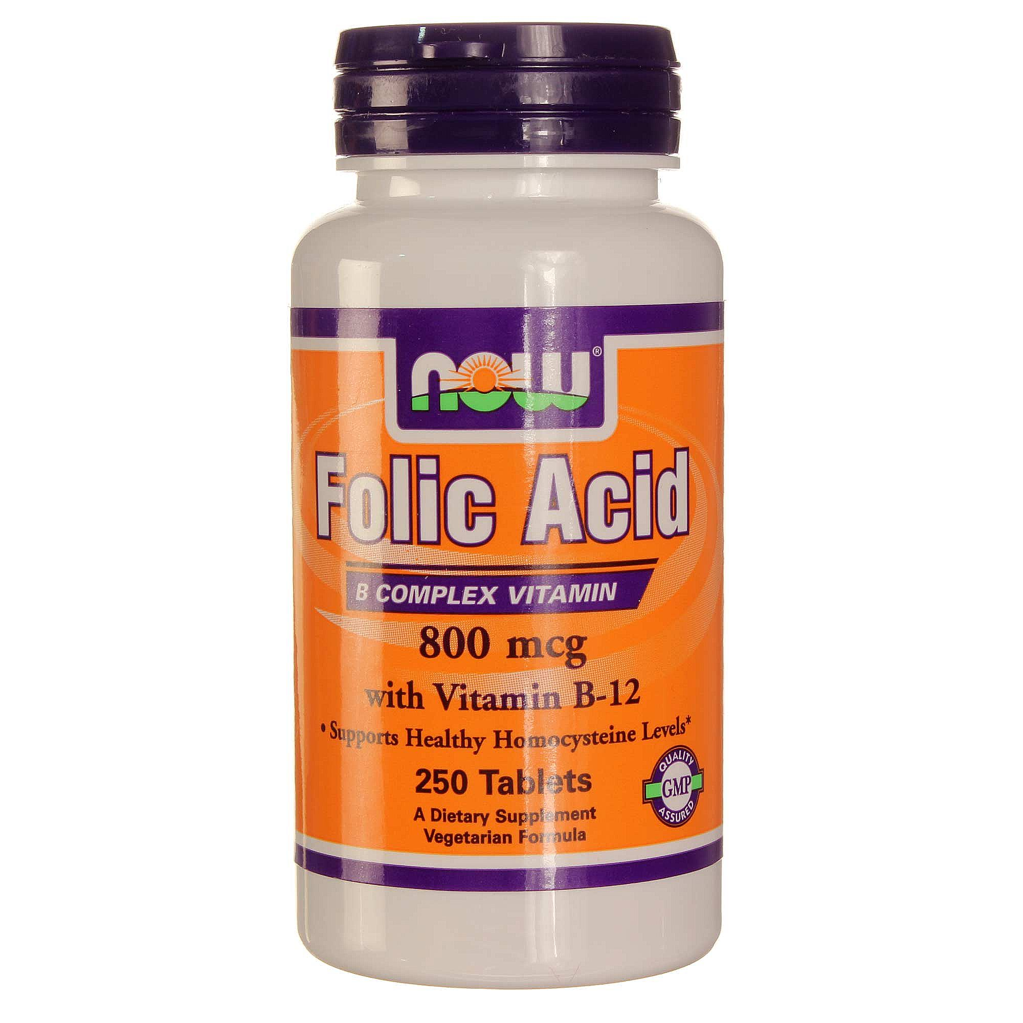 NOW Folic Acid with Vitamin B-12